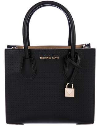 MICHAEL Michael Kors Mercer Perforated Satchel w/ Tags
