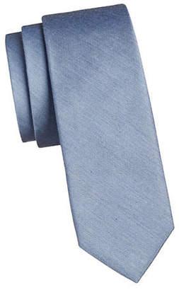 Calvin Klein Melange Solid Silk-Blend Tie