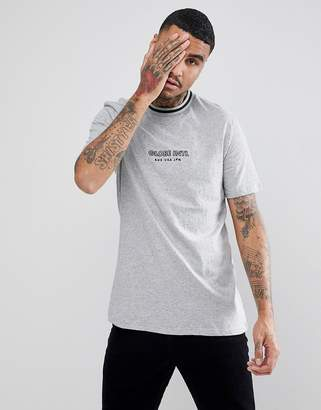 Globe New Yorker T-Shirt With Rib Neckline In Gray