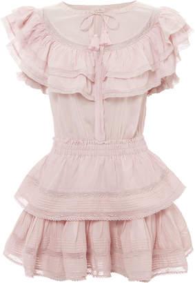 LoveShackFancy Liv Ruffle Mini Dress