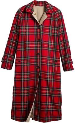 Burberry tartan car coat