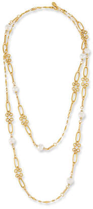 Sequin Graduated Link Pearl Station Necklace