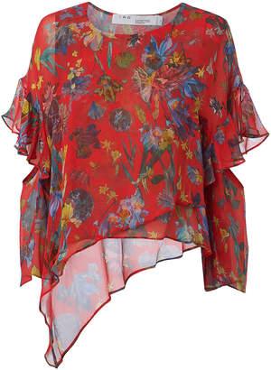 IRO Floral Print Asymmetrical Blouse