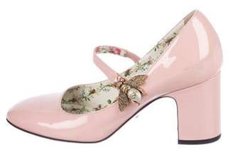Gucci GG Patent Leather Mary-Jane Pumps
