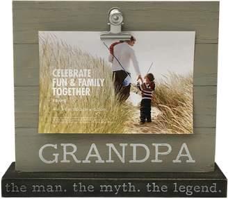 "Celebrate Fun & Family Together ""Grandpa"" 4"" x 6"" Photo Clip Frame"