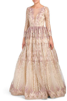 1a16c6d328 ... TJ Maxx · Long Sleeve Embroidered Ball Gown