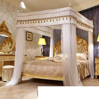 SIOFSVDFDFSDD Princess bed cnopy,Squre netting curtins four corners enhnced tcticl mosquito net europen style home mosquito net plce wind retrctble double meter