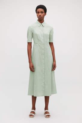 Cos LONG COTTON SHIRT DRESS