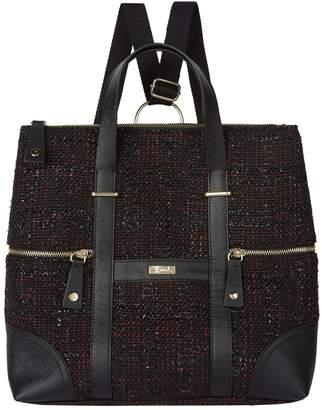 Harrods Tweed Convertible Backpack