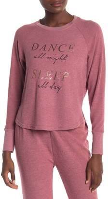 Danskin Dance & Sleep Brushed Knit Sweater