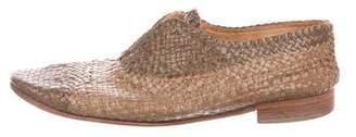 Maison Margiela Woven Leather Loafers