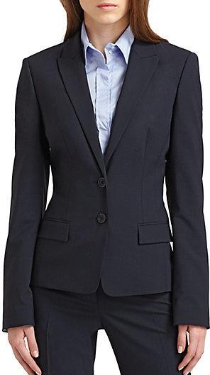 HUGO BOSS Button Closure Stretch Jacket