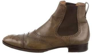 Saint Laurent Leather Wingtip Chelsea Boots