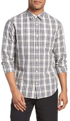 Vince Long Sleeve Plaid Slim Fit Sport Shirt