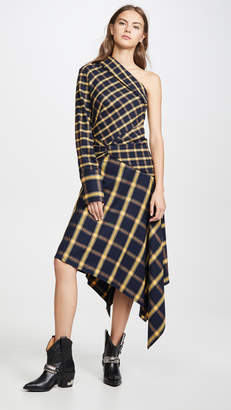 Monse Asymmetrical Patchwork Dress