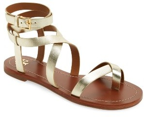Women's Tory Burch Patos Flat Gladiator Sandal $225 thestylecure.com