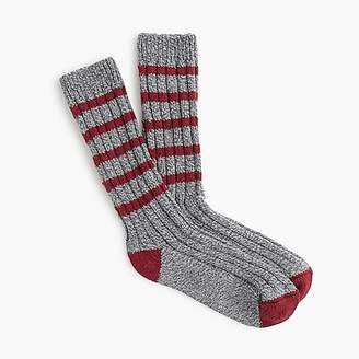 J.Crew Ash striped camp socks