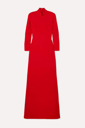 Rebecca De Ravenel Gabrielle Wool-crepe Gown - Red