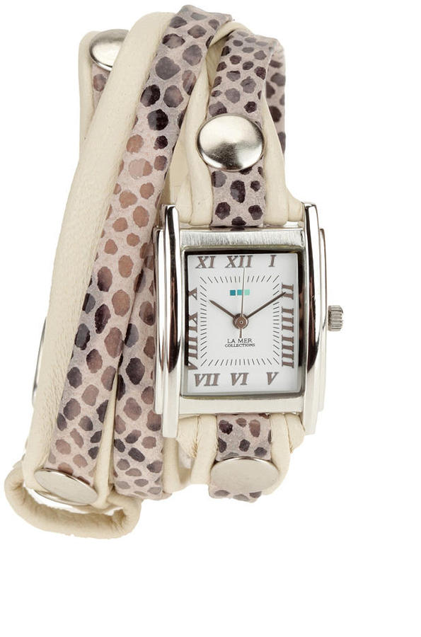La Mer Animal Skin Wrap Watch