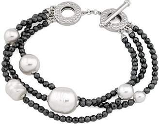 Majorica Simulated Pearl Multi-Strand Toggle Bracelet