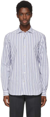 Missoni White and Blue Striped Shirt