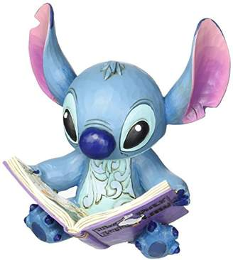 """Disney Traditions by Jim Shore """"Lilo and Stitch"""" Stitch with a Storybook Stone Resin Figurine"""