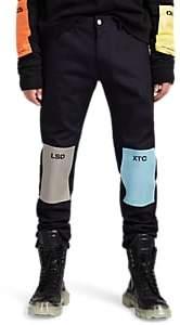 Raf Simons Men's Drug-Patch Slim Jeans - Navy