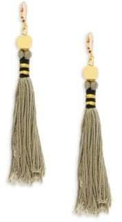 Shashi Katerina Gold & Tassel Drop Earrings