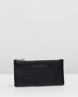 Emporio Armani Vitello Zipped Credit Card Holder