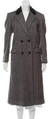 Burberry Vintage Wool Animal Print Coat
