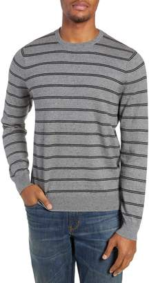 Nordstrom Regular Fit Stripe Cotton & Cashmere Sweater