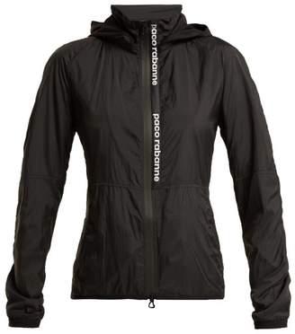Paco Rabanne Nylon Hooded Logo Jacket - Womens - Black