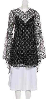 59d9a47c3f76 Camilla And Marc Embellished Mesh-Accented Tunic