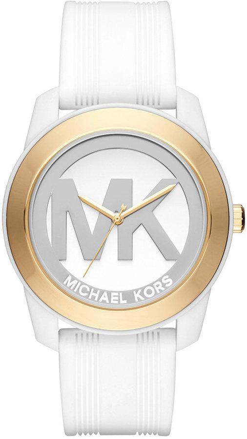 MICHAEL Michael KorsMichael Kors Women's Preston White Silicone Strap Watch 43mm MK2532