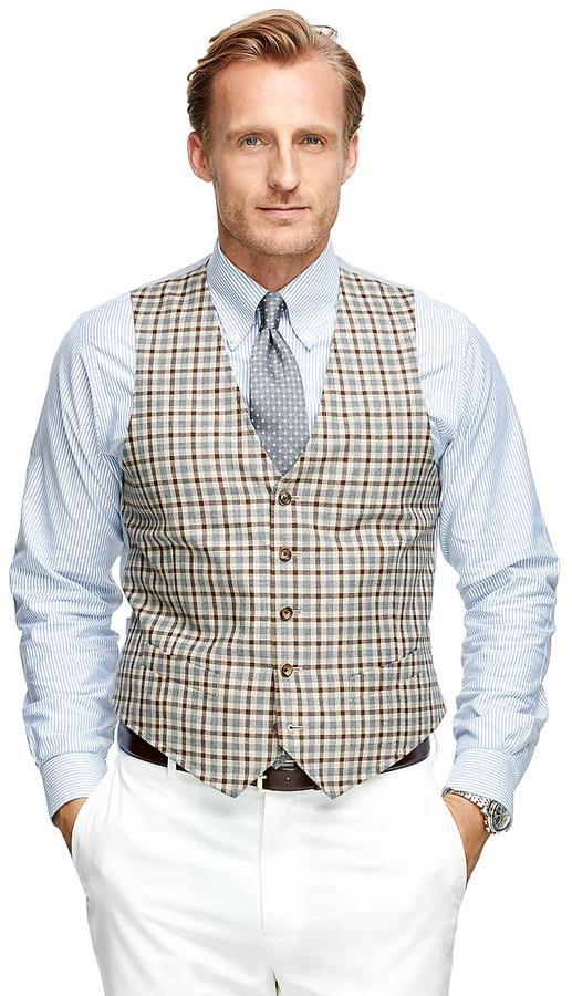 Brooks Brothers Check Vest