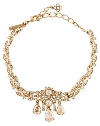 Oscar de la Renta Crystal Drop Choker Necklace
