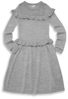Ella Moss Girl's Ruffle Sweater Dress