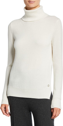 Loro Piana Long-Sleeve Baby Cashmere Turtleneck Sweater