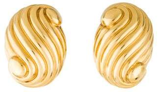 David Webb 18K Spiral Clip-On Earring