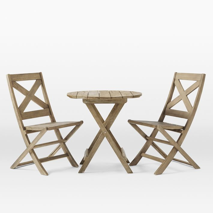 Jardine Folding Bistro Dining Set – Table + 2 Chairs