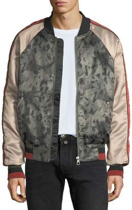 Eleven Paris Mixed Satin Light Bomber Jacket