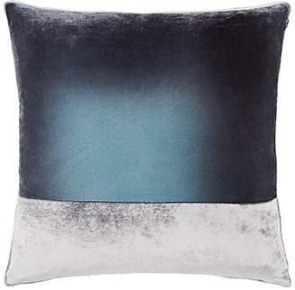 Kevin OBrien Kevin O'Brien Colorblocked Silk Velvet Pillow