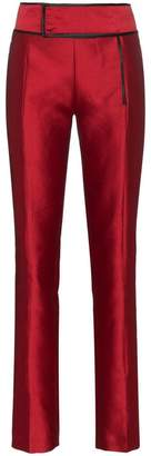 Haider Ackermann binding detail linen-blend trousers