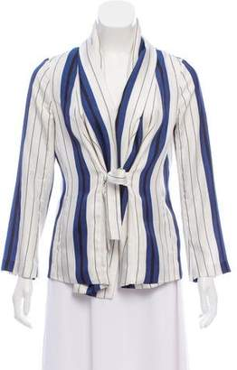 Protagonist Striped Silk Top