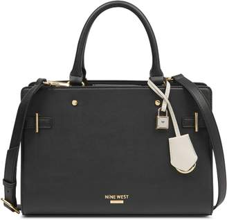 Nine West Block Satchel Handbag