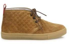 Del Toro Quilted Suede Chukka Sneakers