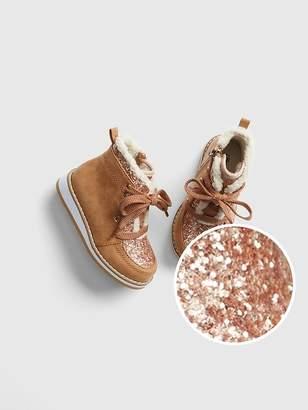 Gap Glitter Sherpa Ankle Boots