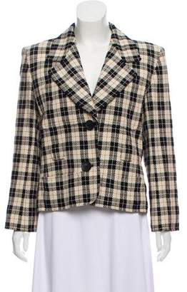 Saint Laurent Structured Plaid Blazer