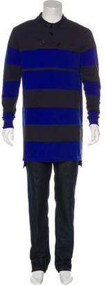 Givenchy Deconstructed Striped Polo Shirt w/ Tags