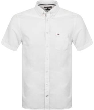 Tommy Hilfiger Short Sleeve Engineered Shirt White